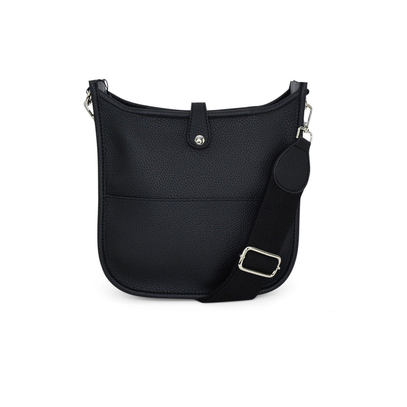 Becky Crossbody Messenger Bag - Black (Large)