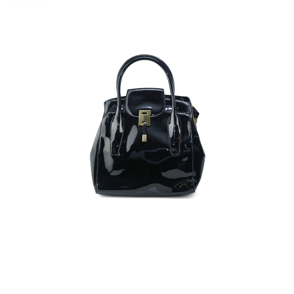 Piper Patent Handbag - Black