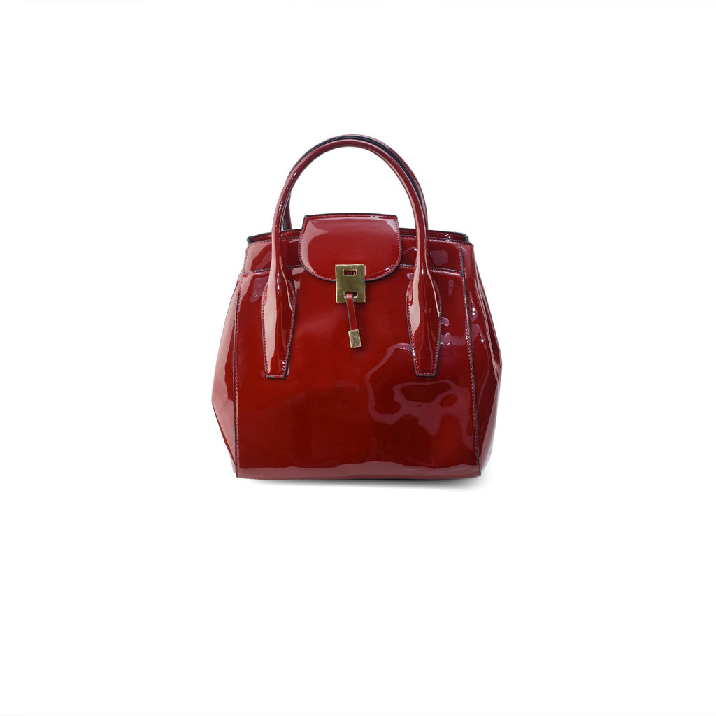 Piper Patent Handbag - Red