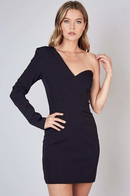 Jillian One Shoulder Sweetheart Bodycon Dress