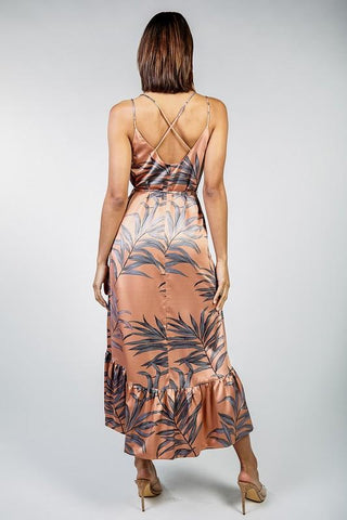 Kiki Tropical High Low Dress