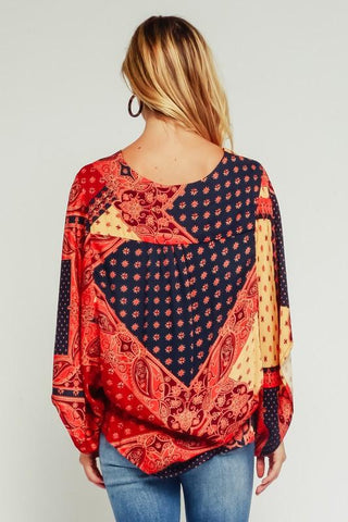 Alani Tapestry Dolman Top