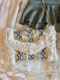 Alessia Beaded Woven Clutch