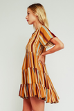Serena Striped Shift Dress
