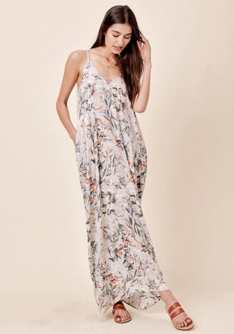 Mari Cocoon Embroidered Maxi Dress