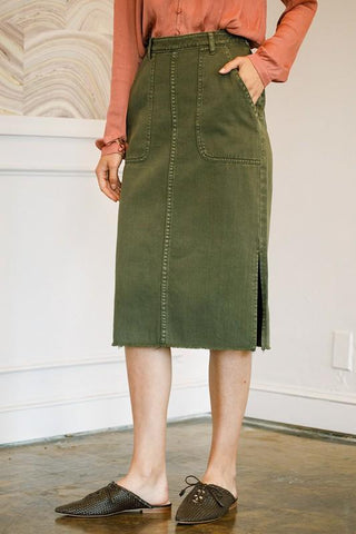 Bridgette Denim Midi Skirt
