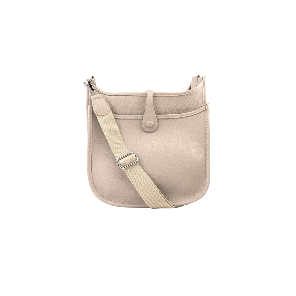 Becky Crossbody Messenger Bag - Beige (Large)