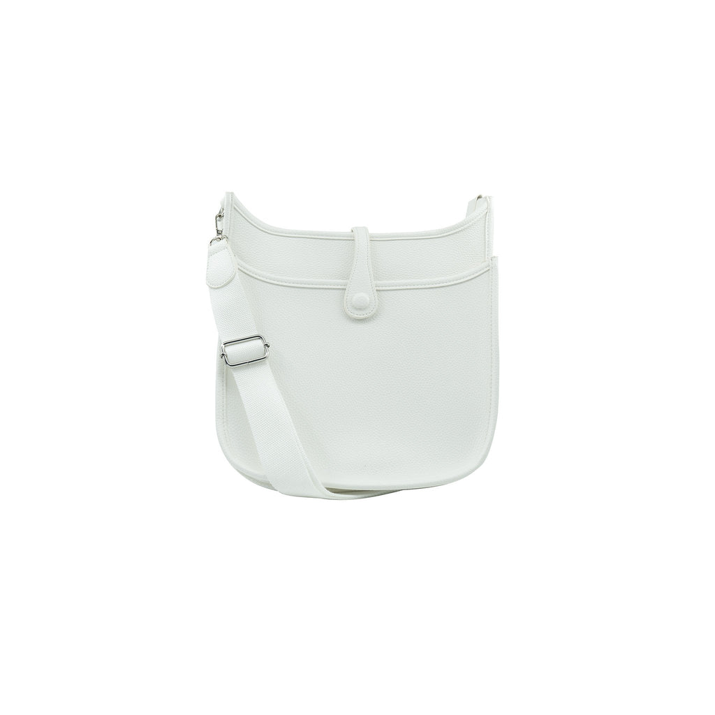 Becky Crossbody Messenger Bag - White (Large)