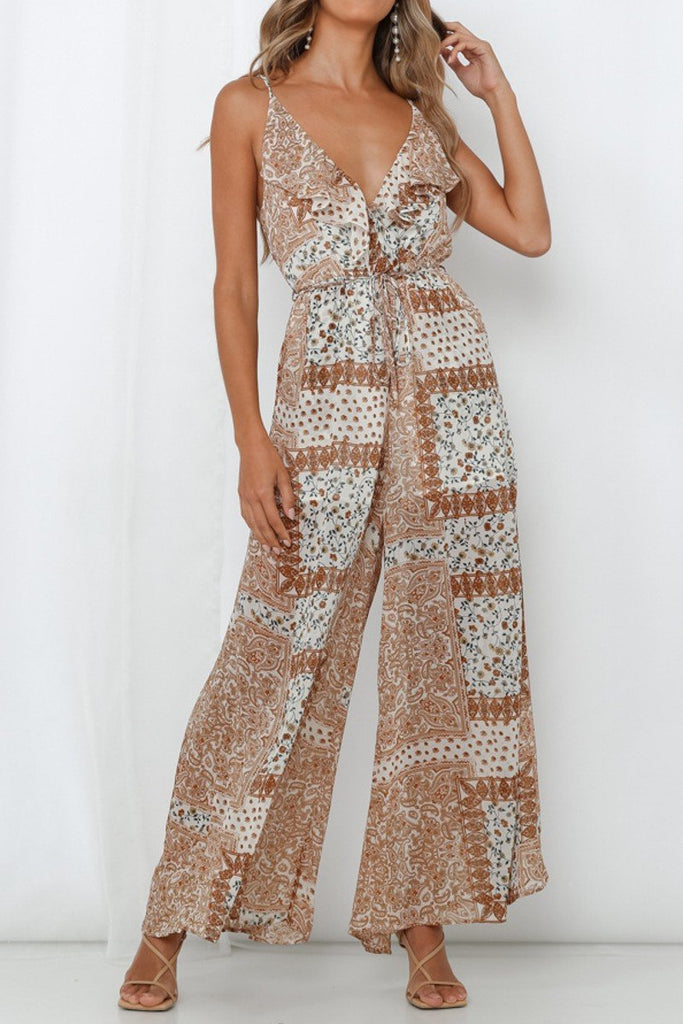 Paulina Printed Wide Leg Jumpsuit