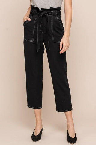 Tana Trousers With White Stitching Detail