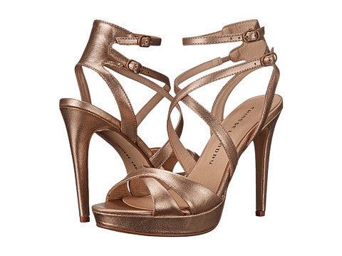 Chinese Laundry Highlight Platform Sandal - Rose Gold
