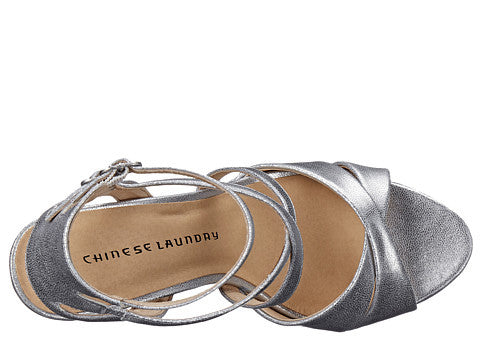 Chinese Laundry Highlight Platform Sandal - Silver