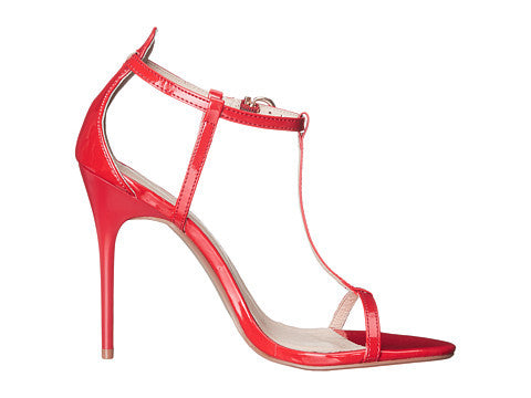Chinese Laundry Leo Patent T-Strap Sandal - Red
