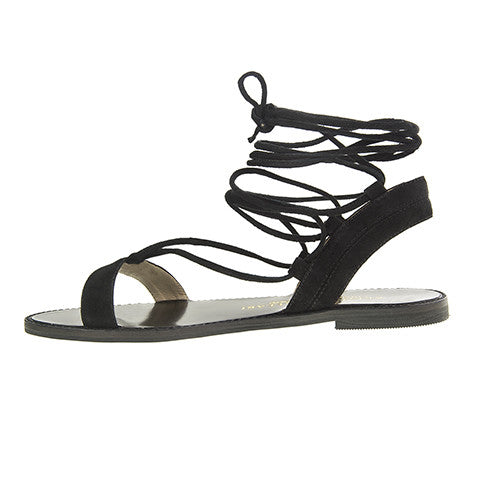 Kristin Cavallari Belle Lace-Up Sandal - Black