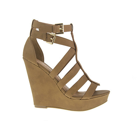 Chinese Laundry Mali Wedge Sandal - Camel