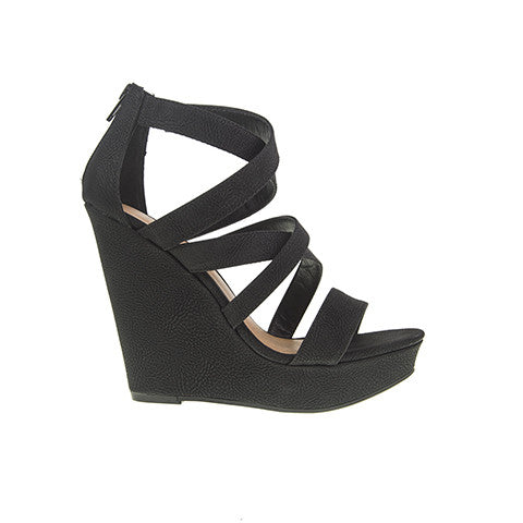 Monami Wedge Sandal - Black