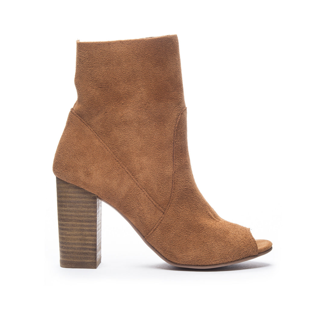 Chinese Laundry Tom Girl Peep Toe Bootie - Whiskey