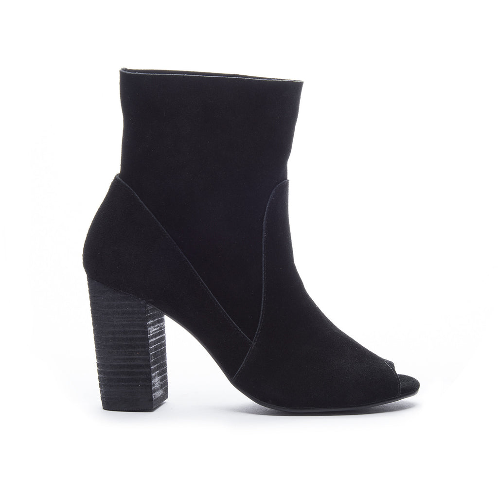 Chinese Laundry Tom Girl Peep Toe Bootie - Black
