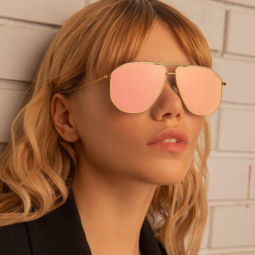 Freyrs Barry Sunglasses - Pink/Gold