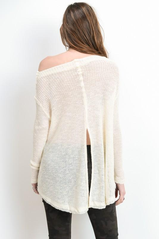 Edith Off Shoulder Knit Sweater