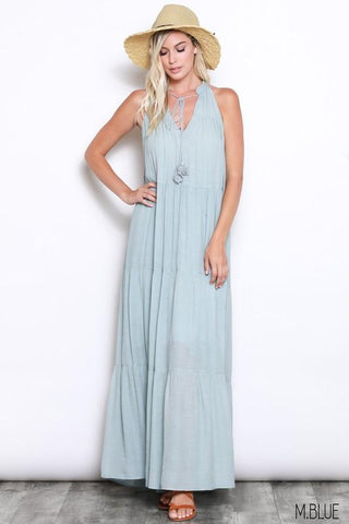 Agatha Sleeveless Boho Maxi Dress
