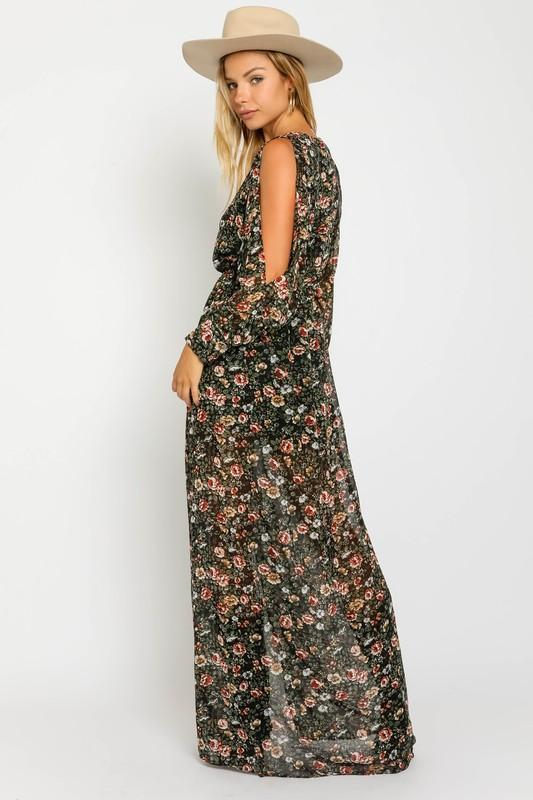 Cellie Floral Print Maxi Dress