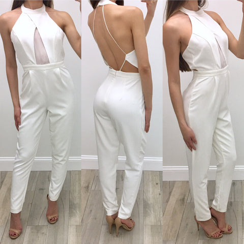 Blake Sheer Peek-A-Boo Jumpsuit
