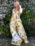 Lucy Floral High Low Maxi Dress