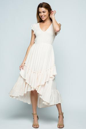 Darlene Smocked High Low Dress