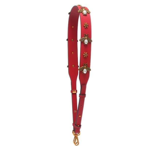 Beatrice Bee Handbag Strap - Red