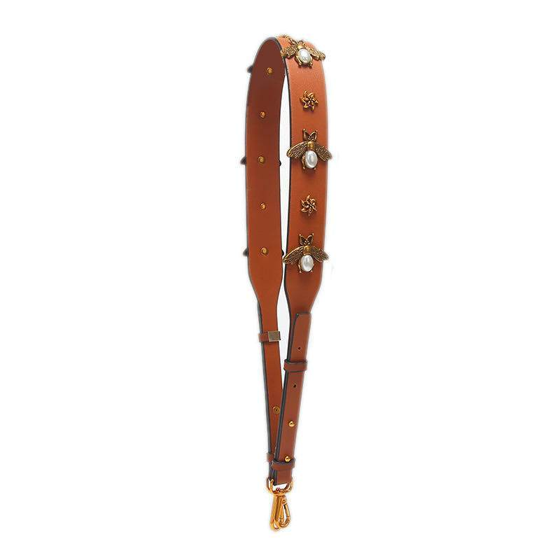 Beatrice Bee Handbag Strap - Tan
