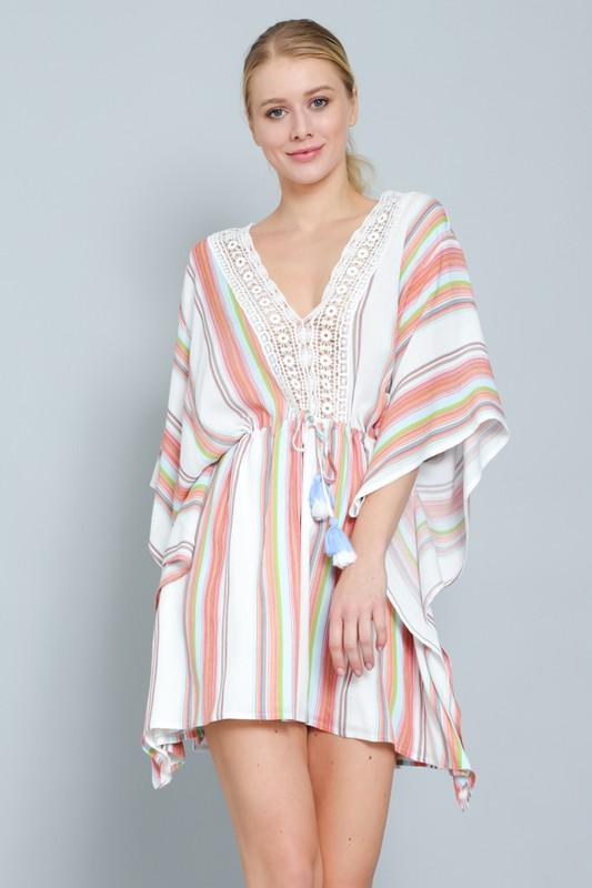 Beverly Cover-Up Tunic Mini Dress