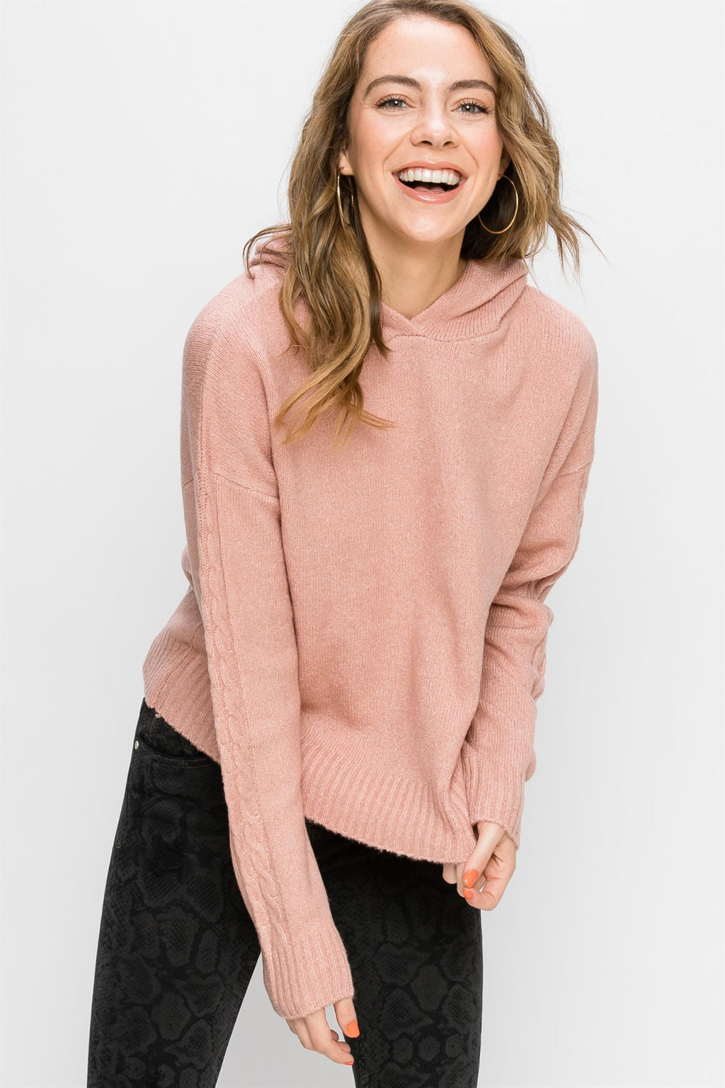 Aubrie Sweater With Hoodie