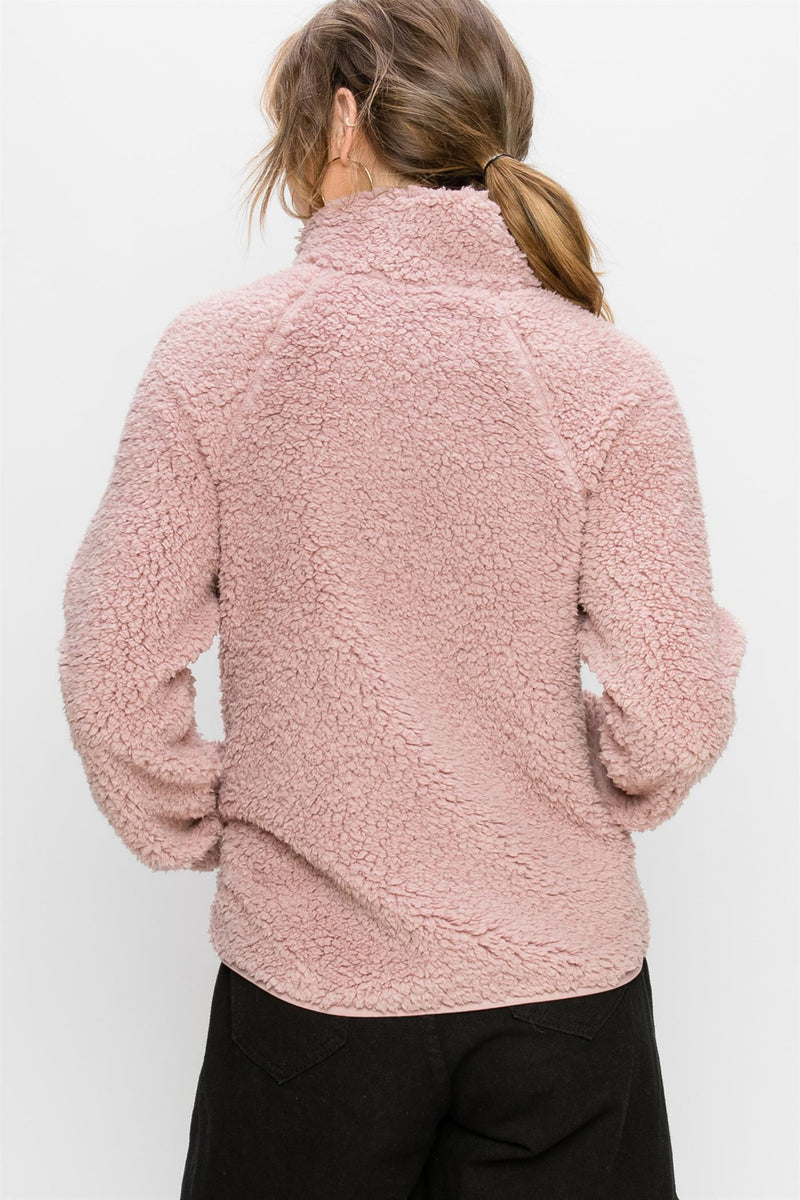 Rada Fuzzy Fleece Jacket - Blush