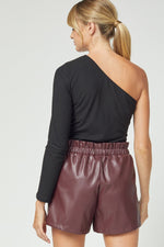 Ryleigh Leather Shorts