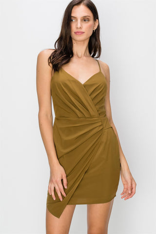 Rosalia Olive Mini Dress