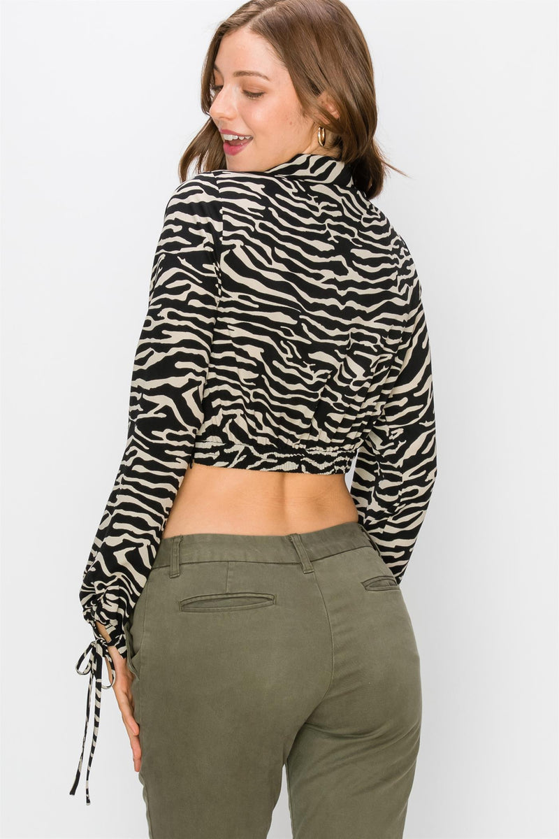 Lenore Zebra Crop Top