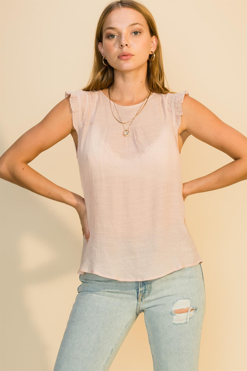 Gwen Sleeveless Gauze Top