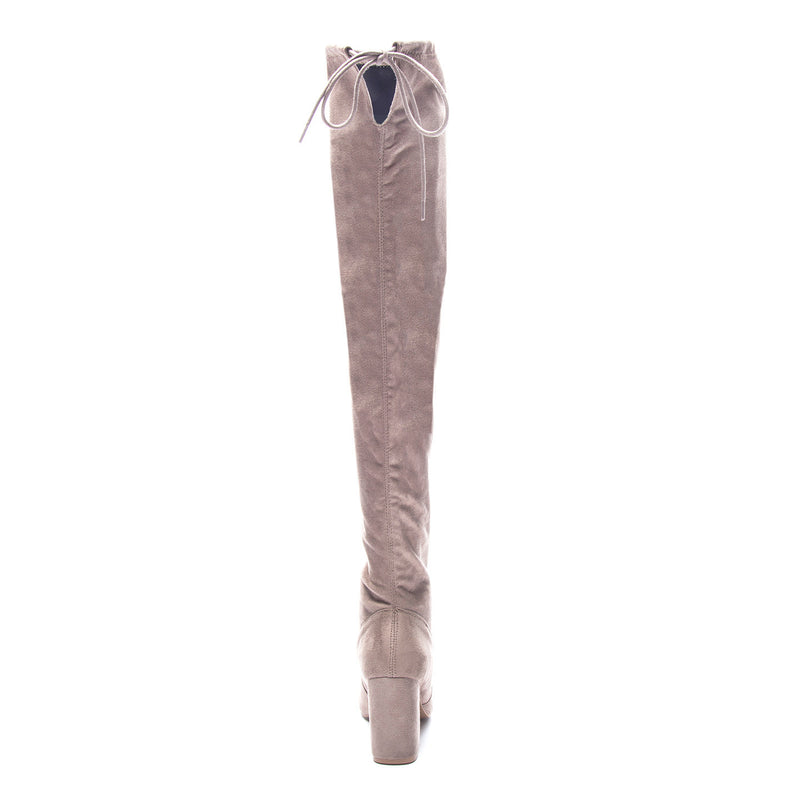 Chinese Laundry Kiara Over The Knee Boot - Gray/Taupe