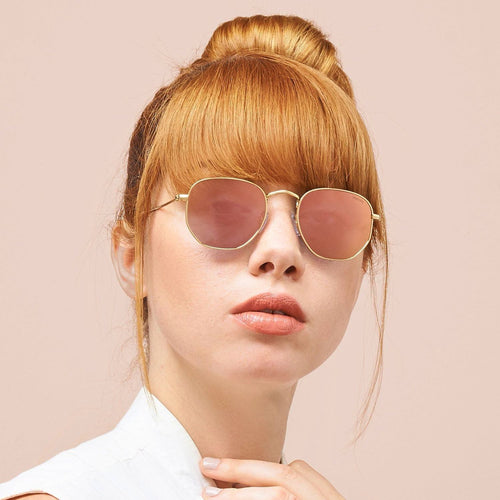 Freyrs Alex Sunglasses - Pink/Gold