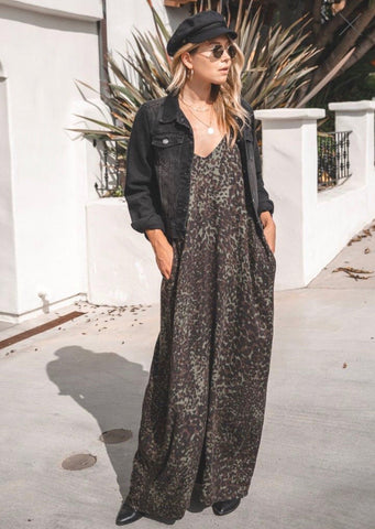 Mari Cocoon Leopard Maxi Dress