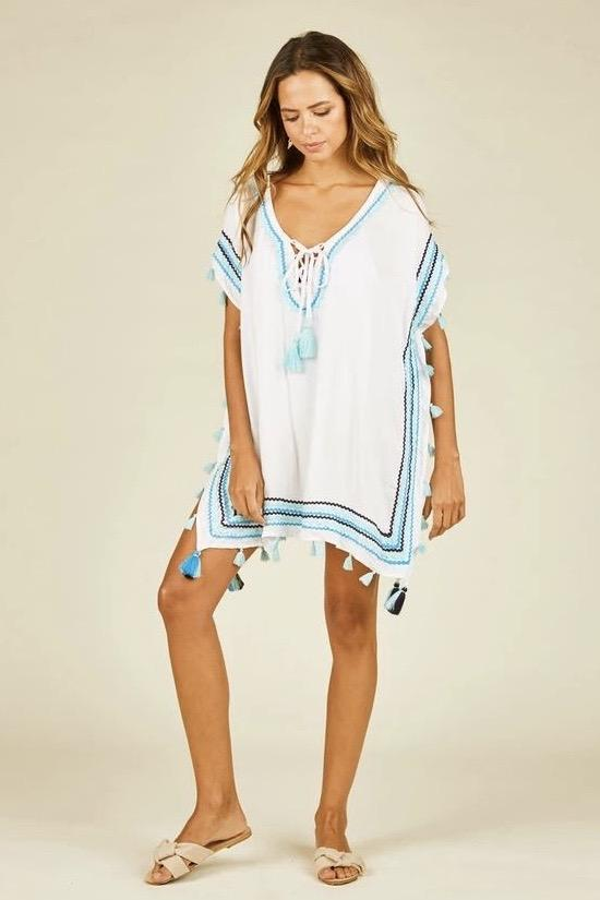 Aubrielle Zig-Zag Print Cover-Up