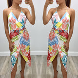 Karla Wrap Tulip Midi Dress