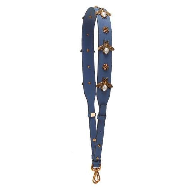 Beatrice Bee Handbag Strap - Navy