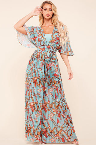 Aliah Floral Pleated Jumpsuit