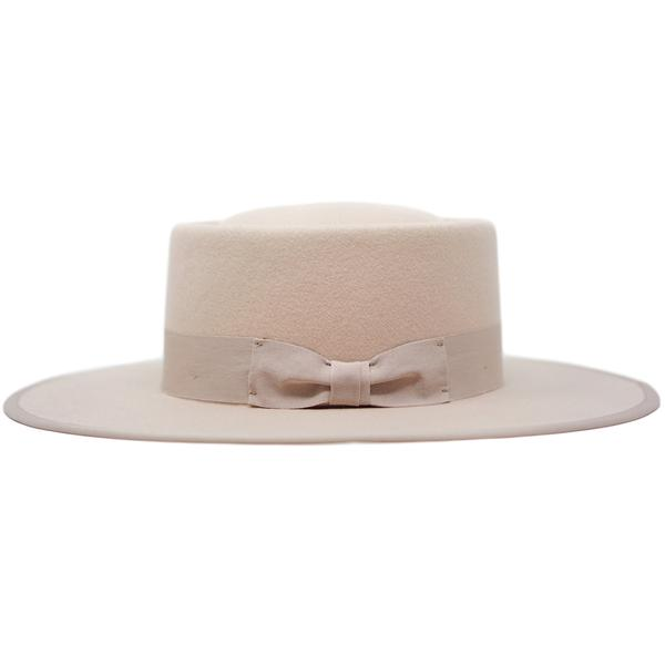 Graceann Felt Hat with Detailed Trim