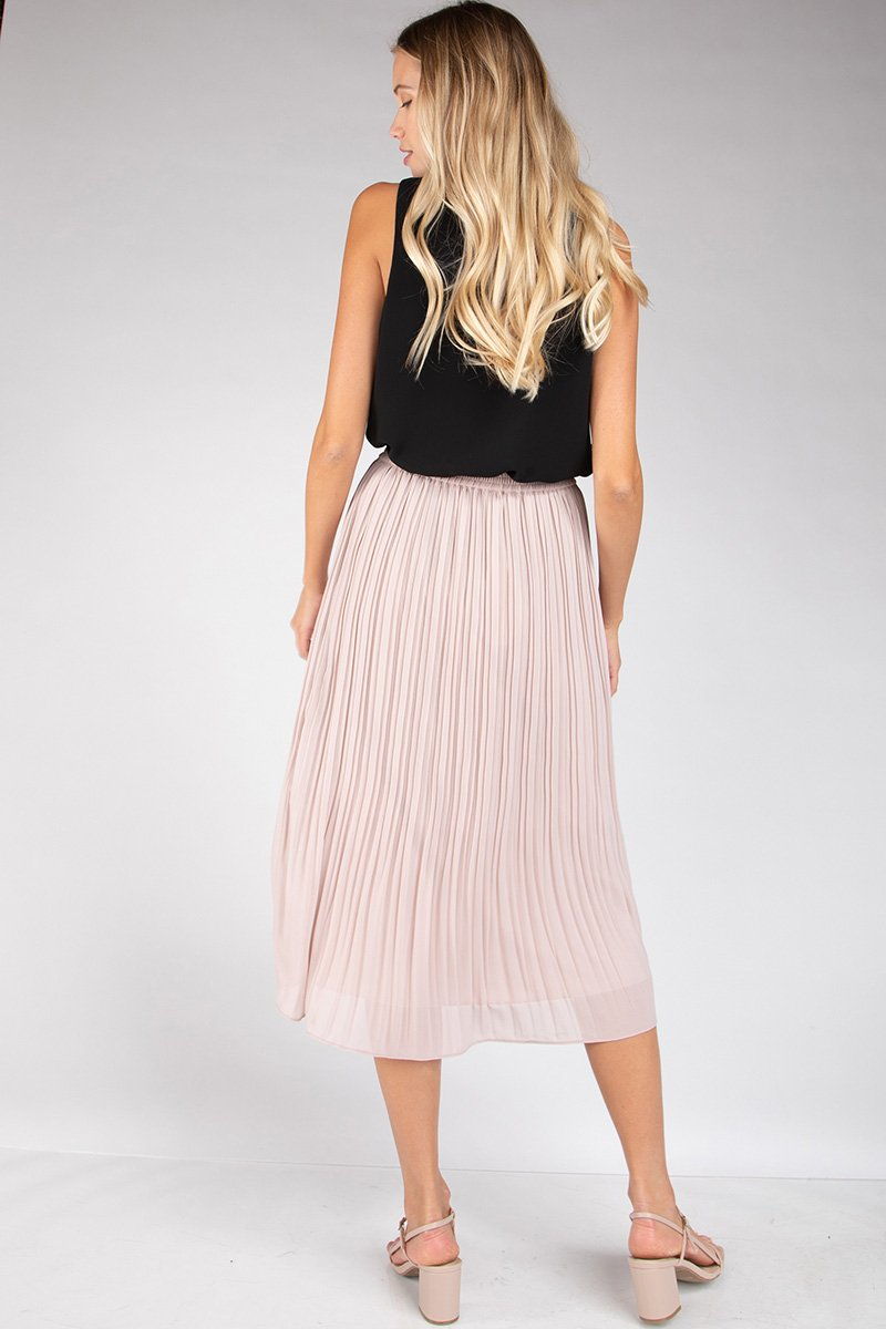 Georgine Pleated Skirt - Blush