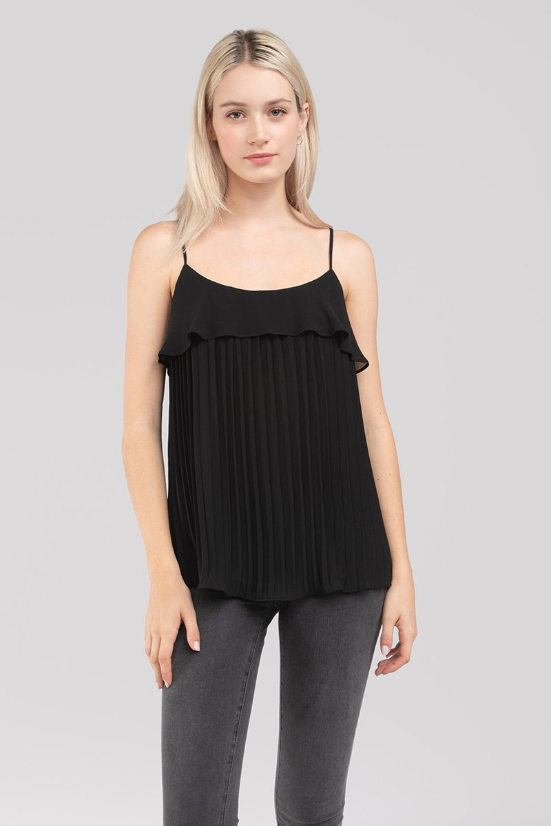 Lacey Pleated Cami Top