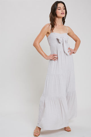 Evo Tie-Front Maxi Dress - Shell