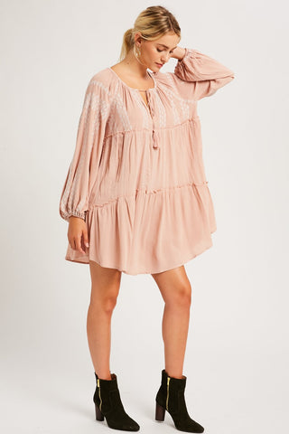 Lucio Embroidered Shift Dress